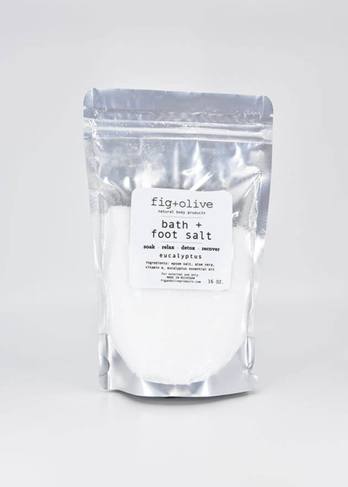 bath foot salt eucalyptus