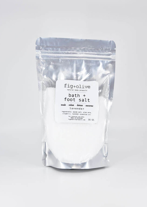 bath foot salt lavender